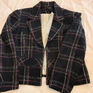 Tweed blazer skirt suit